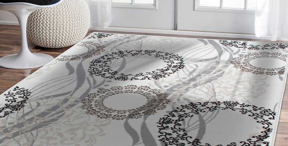 Luxury Area Rugs for Living Room, Ivory