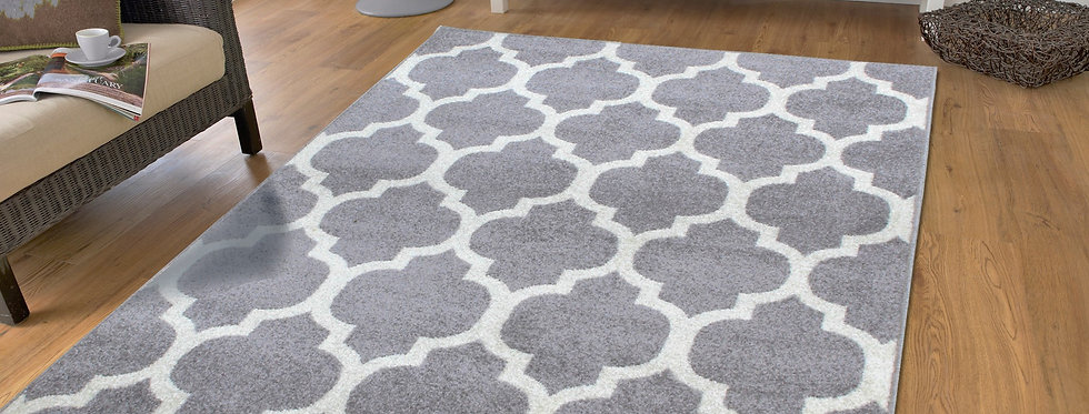 Gray Moroccan Trellis Rugs For Living Room