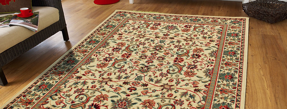 Traditional Floral Area Rugs Cream