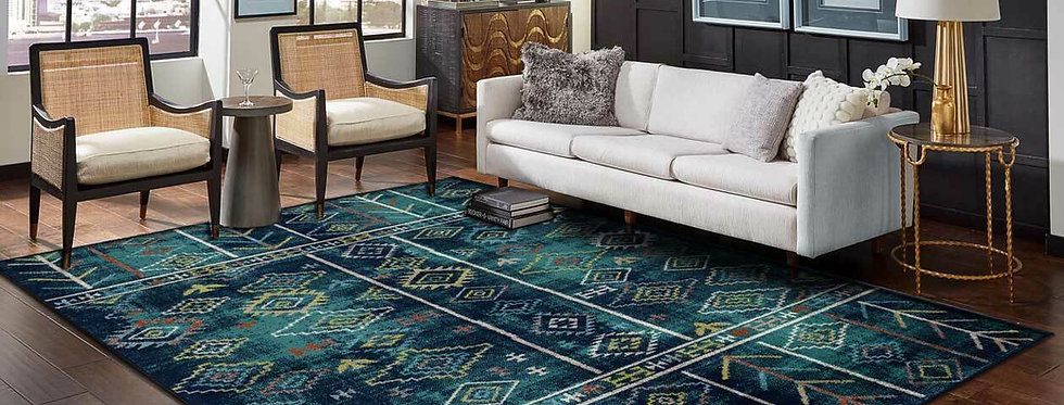 Modern Area Rugs Blue Arrows