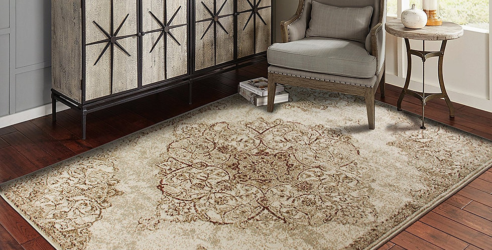 Traditional Area Rugs Brown Rug