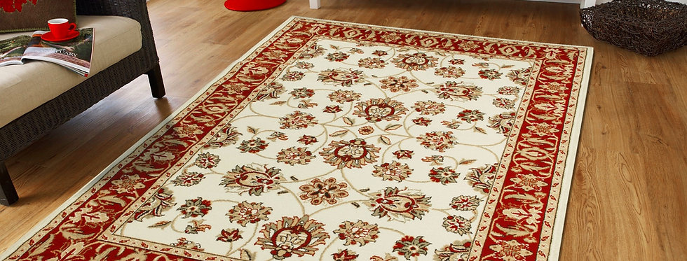 Traditional Area Rugs Cream Persian Rug