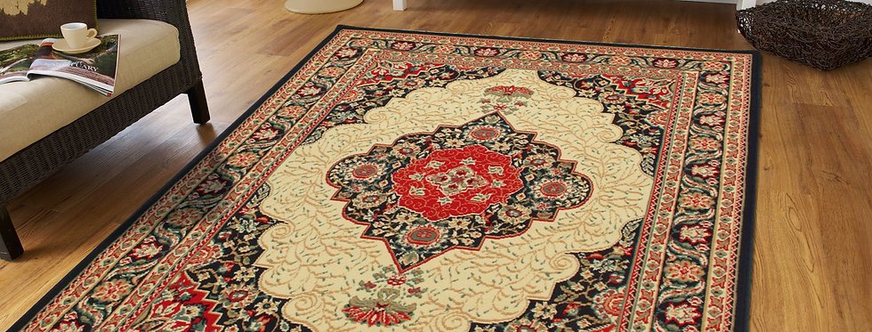 Traditional Area Rugs Black