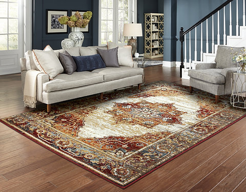 Traditional Distressed Rugs Red Living Room Rug   Home