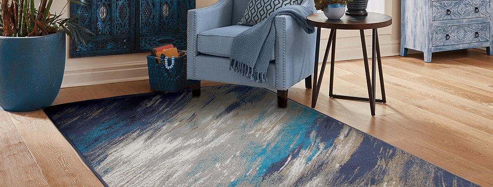 Modern Area Rugs For Living Rooms Blue Grays