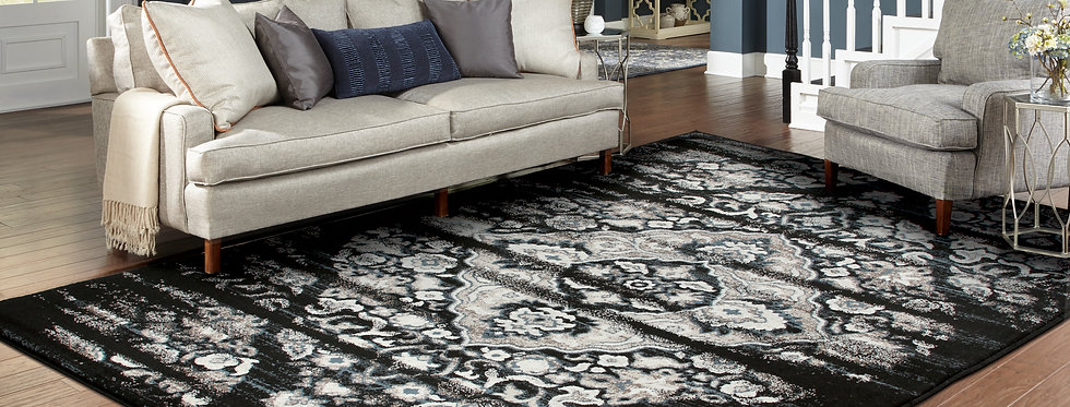 Traditional Distressed Rugs Black Living Room Rugs