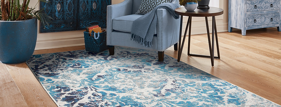 Modern Distressed Rugs Gray, Blues