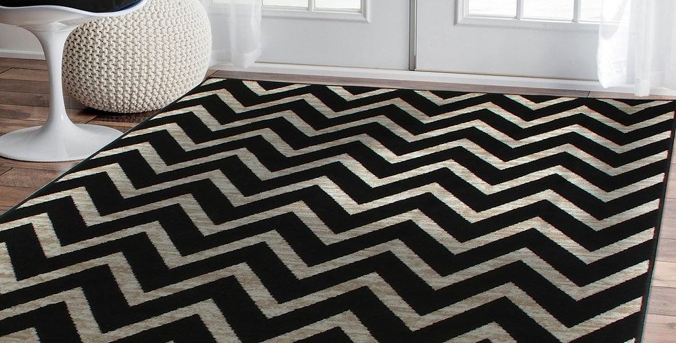 Modern Chevron Rugs Area Rugs for Living Room Black