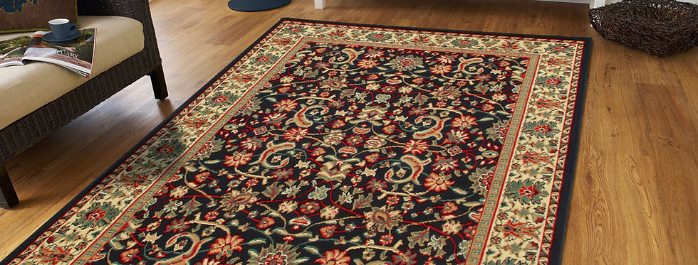 Traditional Persian Area Rugs Black