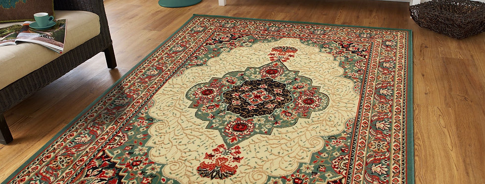 Traditional Area Rugs Green