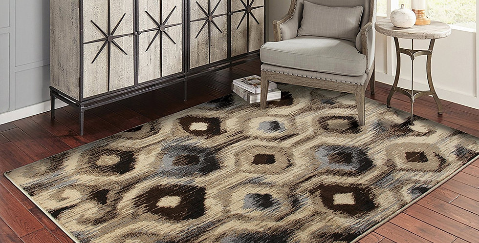 Modern Area Rugs Gray Geometric Rug