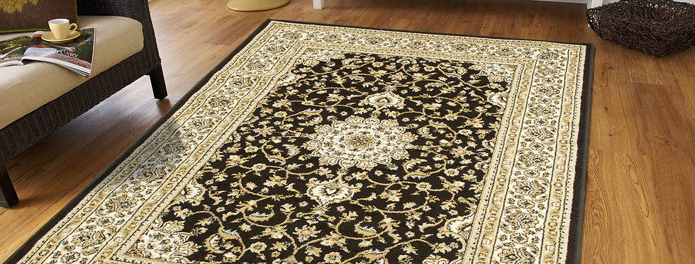 Black Persian Area Rugs