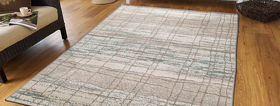 Modern Distresed Area Rugs Living Room, Gray