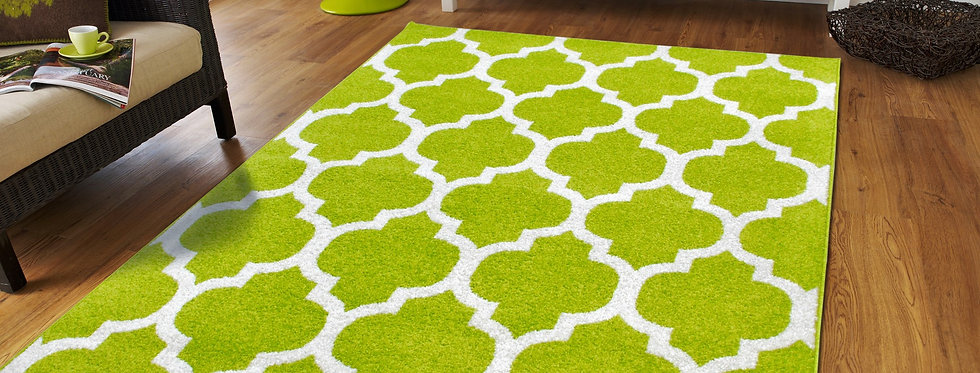 Green Moroccan Trellis Rugs For Living Room