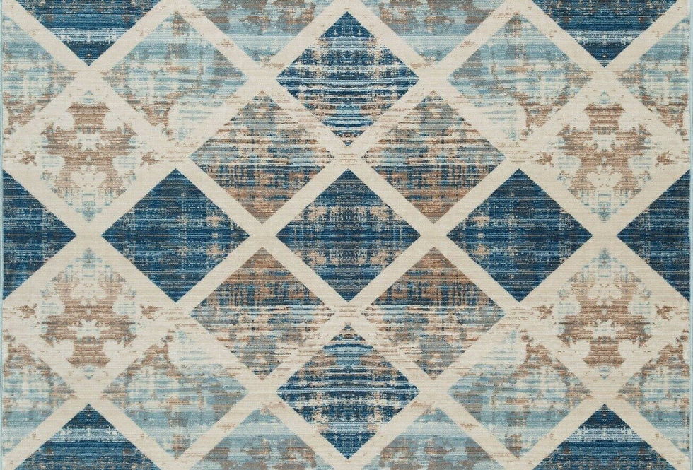 Modern Area Rugs Geometric Multicolor