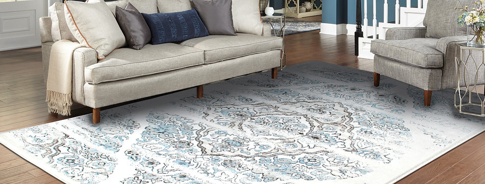Traditional Distressed Rugs Ivory Persian