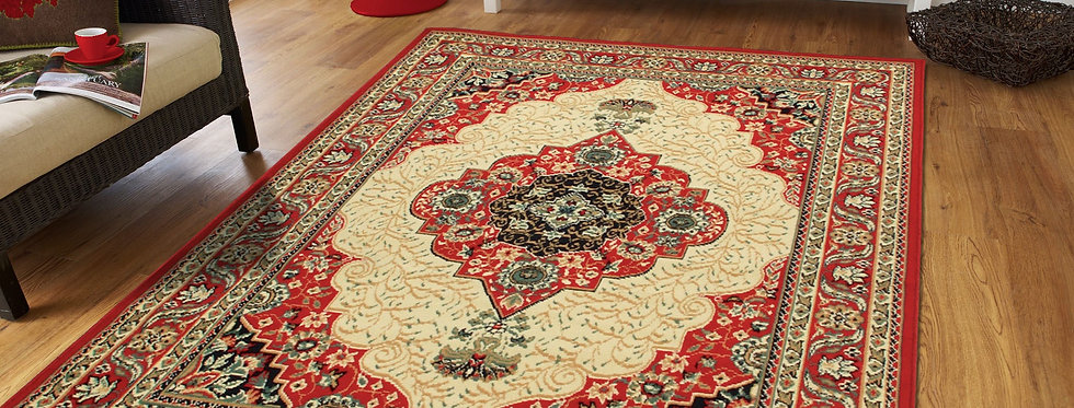 Traditional Area Rugs Red