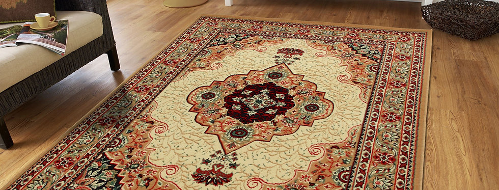 Traditional Area Rugs Beige