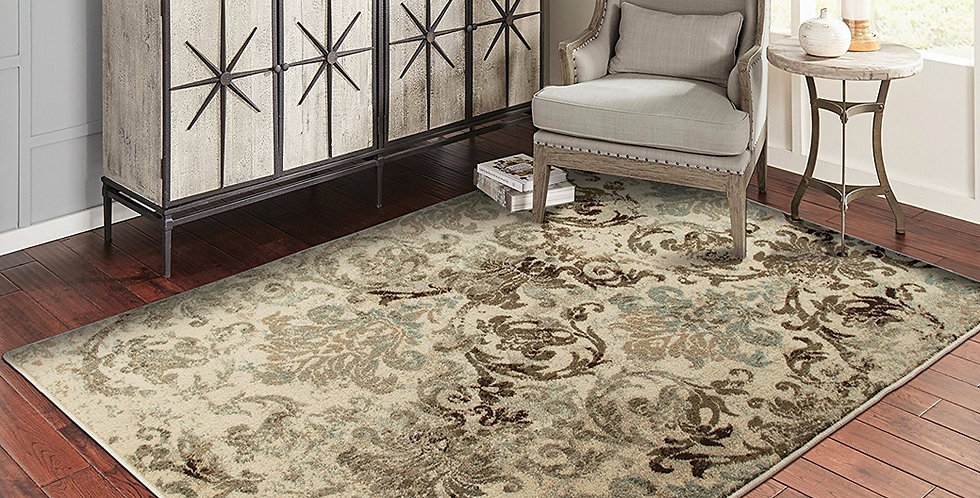 Modern Area Rugs Floral Brown Rug