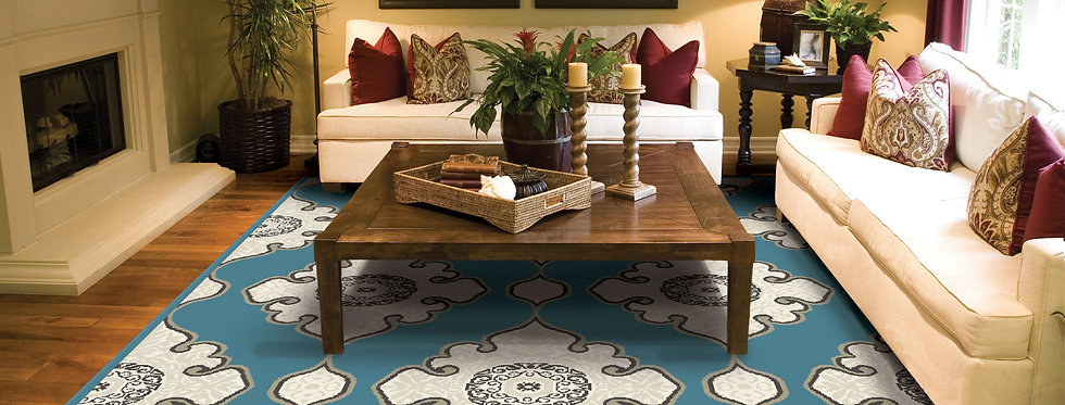 Area Rugs for Living Room Blue