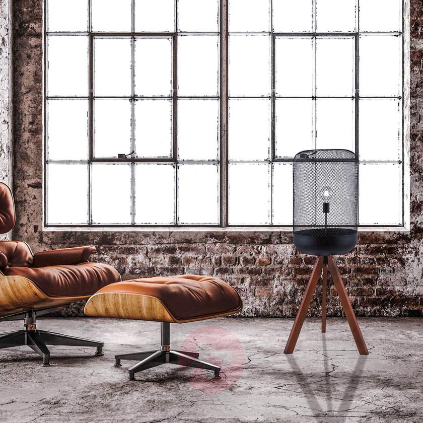dekorative Stehleuchte neben Eames Lounge Chair