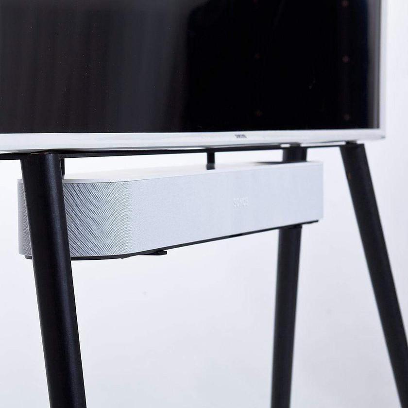 TV Stand-Ständer in schwarz mit Soundbar