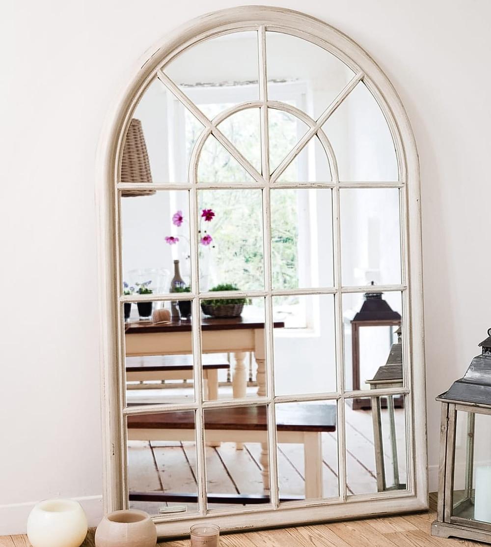 Fensterspiegel aus Holz Shabby Chic von Maison du Monde