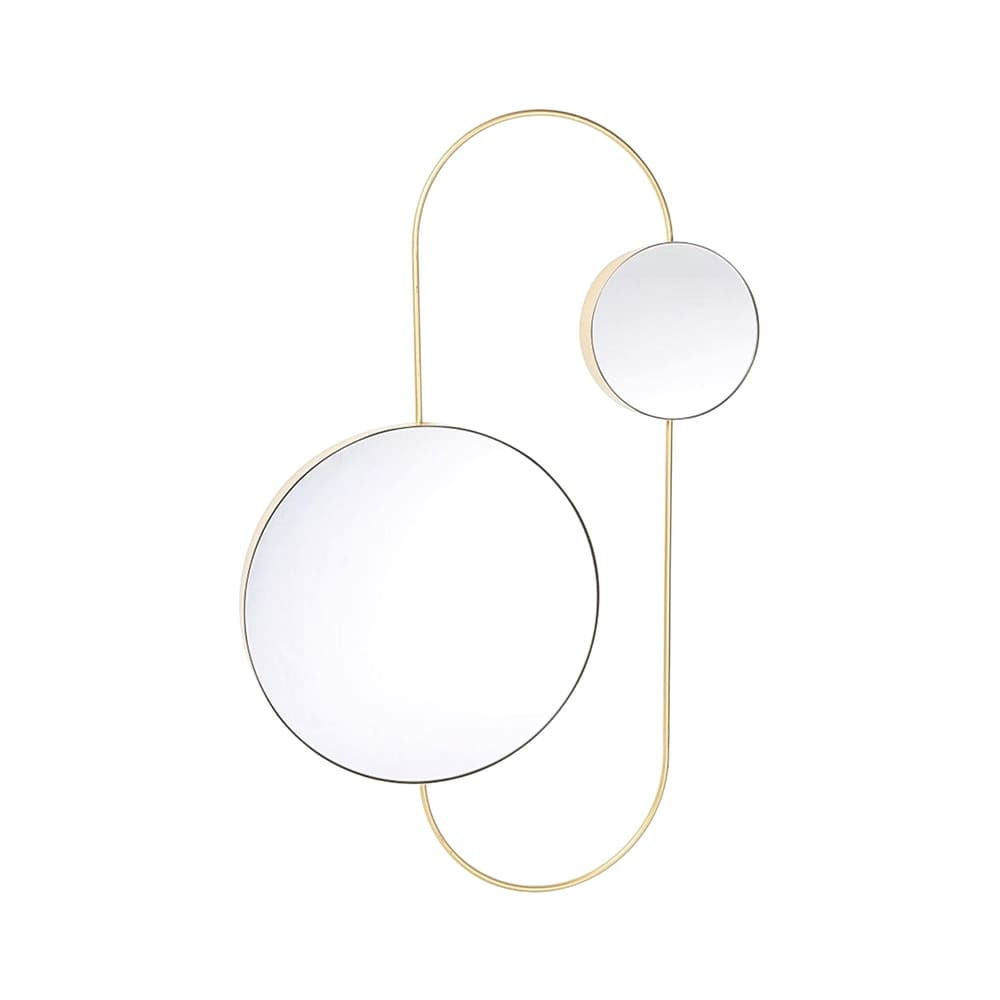 Art Deko Doppel-Spiegel mit goldenem Rahmen