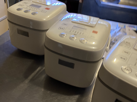 コンドミニアムに炊飯器装備
