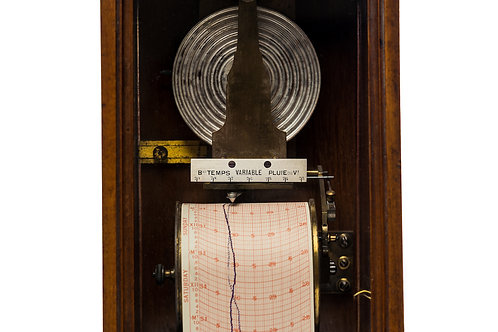 Early Wall Barograph by Redier