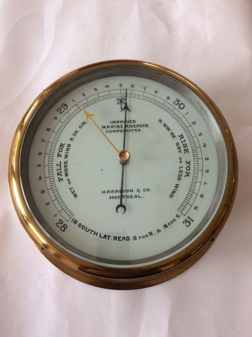 Large Marine Barometer by Harrison & Co., Montreal c. 1950 Canada