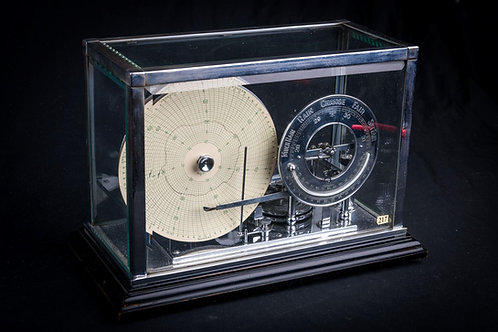 Fine & Rare Barograph With Disc Style Chart & Adjacent Barometer Dial, ca. 1925
