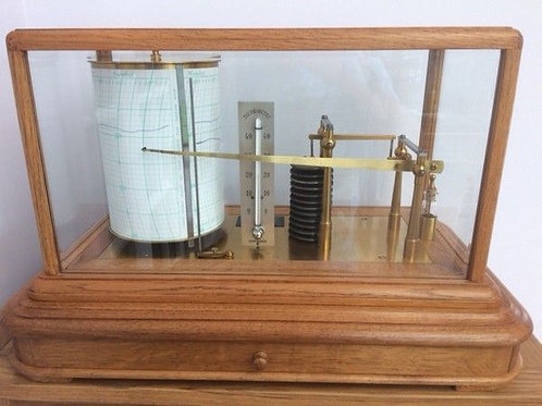 Barograph by Richard Freres. Large Pattern & Fully Restored c. 1925 France
