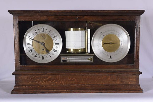 Negretti & Zambra Display Barograph, Clock & Barometer c. 1890 England