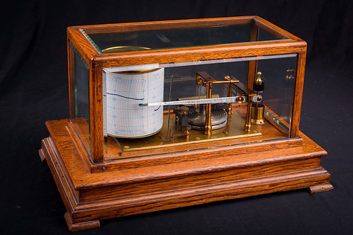 Oak Cased Barograph, ca. 1900