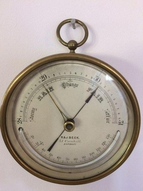 Marine Barometer by R & J Beck Cornhill London c. 1890 England
