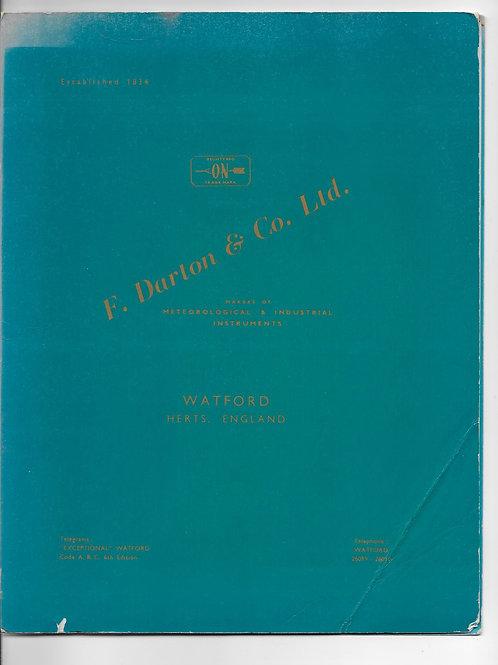 Darton & Co. Ltd, Watford Meteorological & Optical Instrument Makers 1963