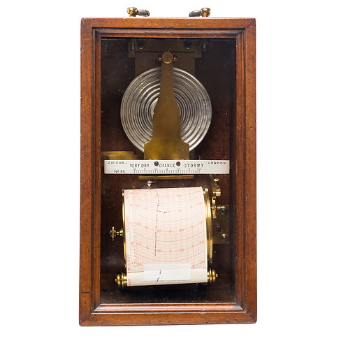 An Early Redier Wall Barograph retailed by Robert Ballantine, Optician, Glasgow