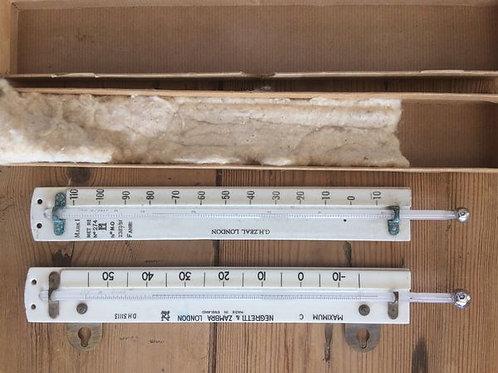 Porcelain Screen Thermometers by Negretti & Zambra & Zeal