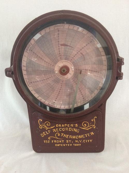 Self Recording Thermometer (Thermograph) By Draper, New York Circa 1900