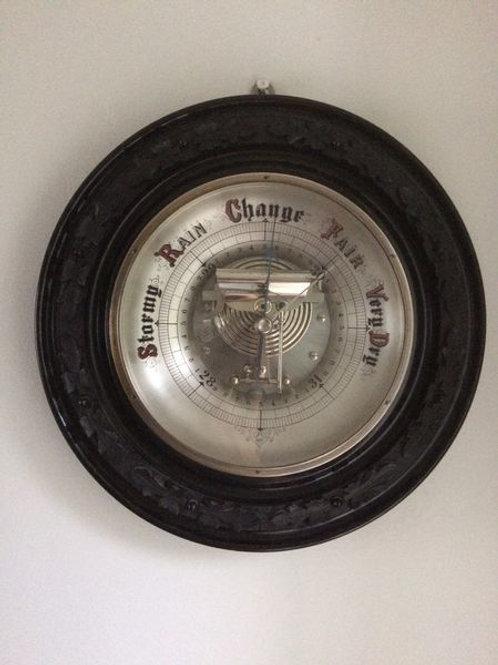 Large Ebonized Framed Barometer c. 1900 England