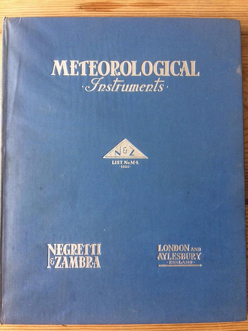 Negretti & Zambra London Standard Meteorological Instruments Ref: M4 1950