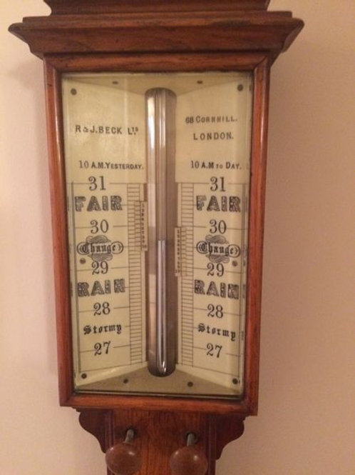 Mercury Barometer by R & J Beck, 68, Cornhill, London c. 1895 England