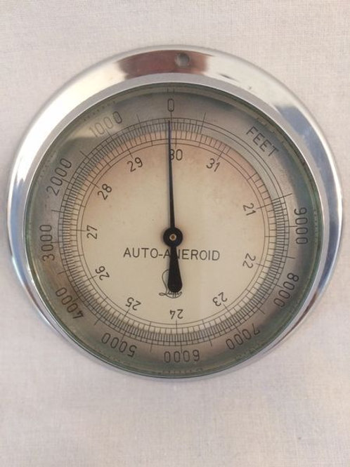 Motor Aneroid Barometer by Lufft c. 1955 Germany