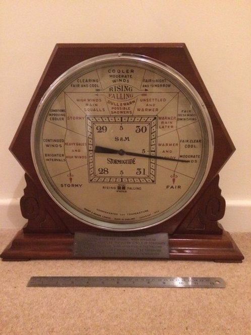 Short & Mason Shop Display Barometer (c. 1935, England)