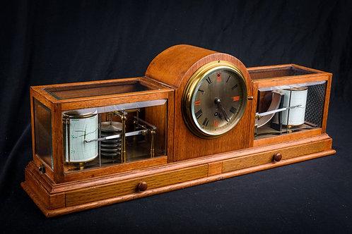 Fine & Rare Art Deco Style Barograph/Clock/Thermograph by Negretti & Zambra, ca.