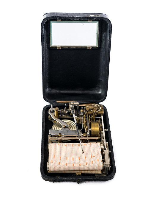 Rare Travelling Pocket Barograph/Recording Altimeter