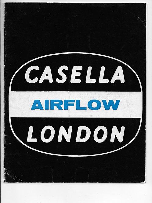 Casella London Airflow Ref:933 1974
