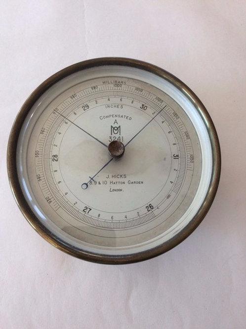 Met. Office Barometer by J Hicks c. 1920 England