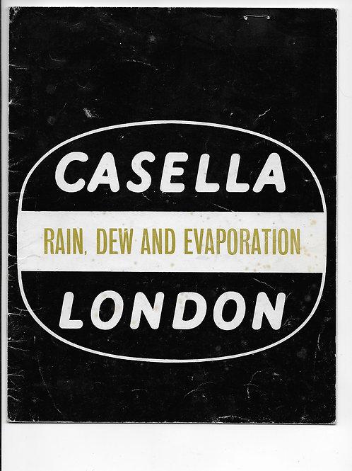 Casella London Rain, Dew & Evaporation Ref:935/TO 1974